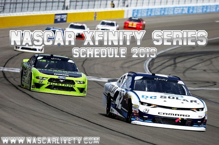 NASCAR Xfinity Series Schedule 2019