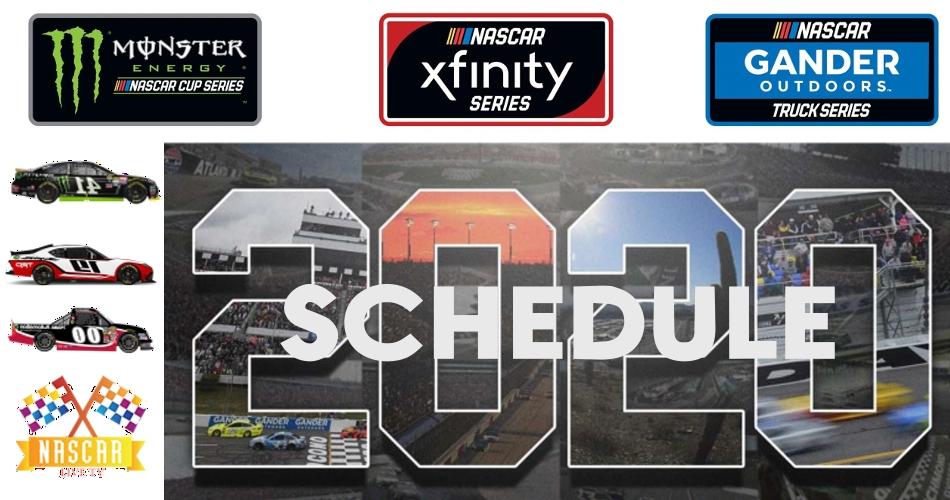 Monster Energy NASCAR Cup Series 2020 Schedule Dates and Venue