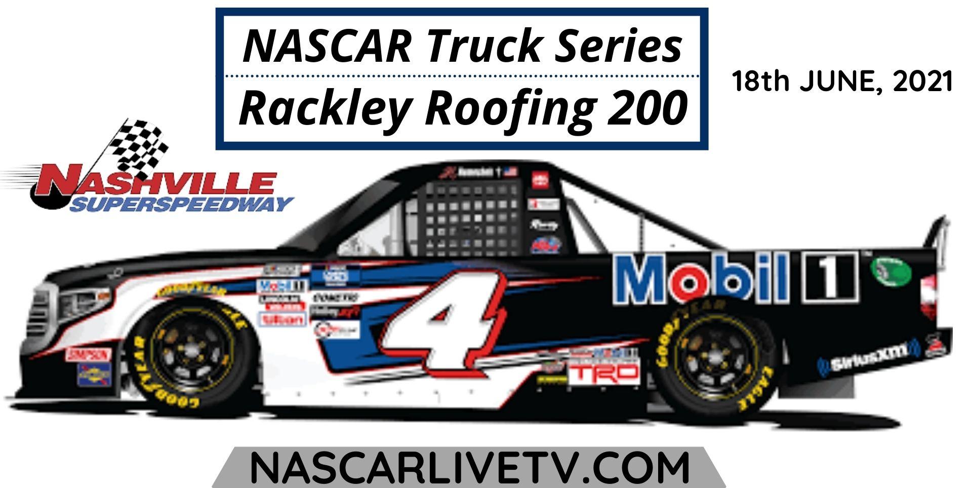 NASCAR Truck Series at Nashville Live Stream