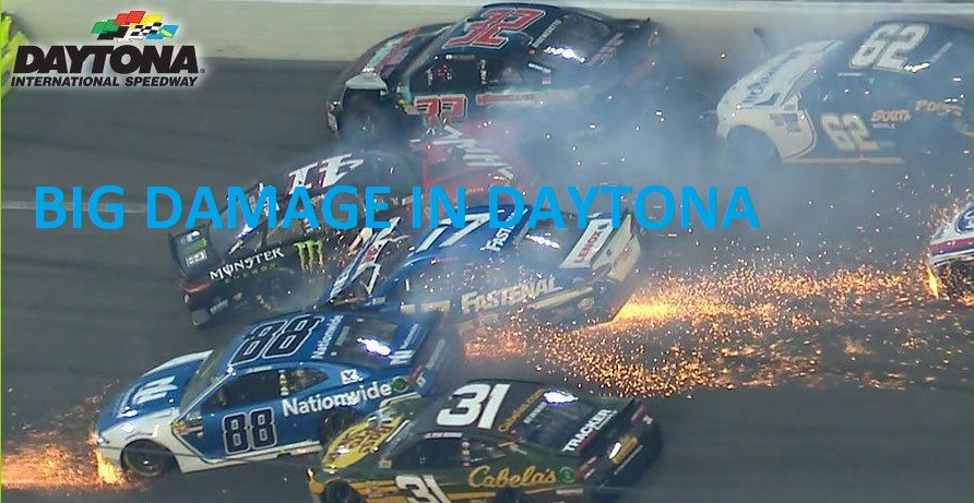 Big Damage 21 Cars Smashed in 2019 Daytona 500