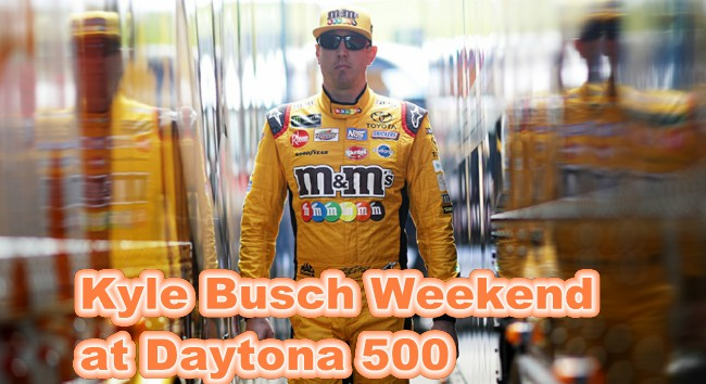 Watch How Kyle Busch Spend His Weekend at Daytona 500