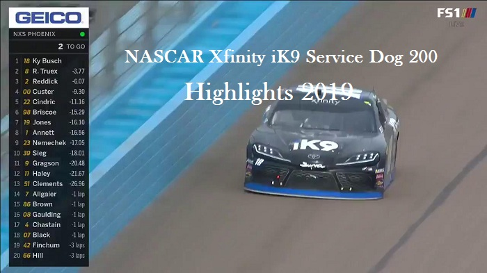 NASCAR Xfinity iK9 Service Dog 200 Highlights 2019