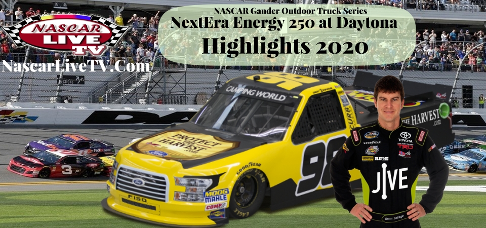 NextEra Energy 250 NASCAR Truck Series Highlights 2020