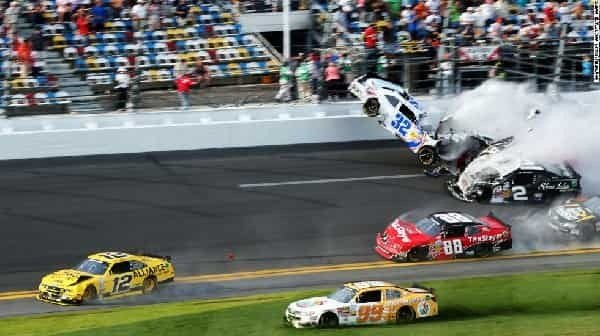 Daytona 500 all NASCAR Crashes
