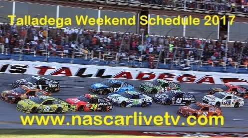 Talladega Weekend Schedule 2017