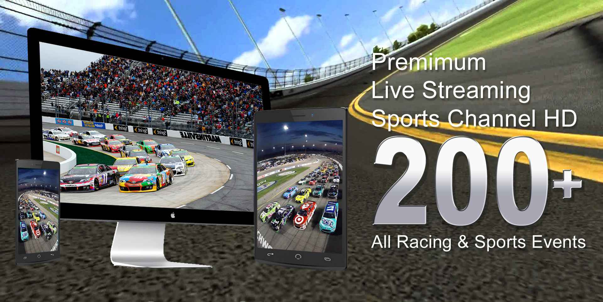 Nascar Live Truck Series, Sprint cup, Xfinity series