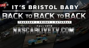 NASCAR Bristol Motor Speedway 2018 full weekend Schedule